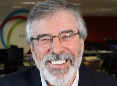 Gerry Adams in an interview with TheJournal.ie last year