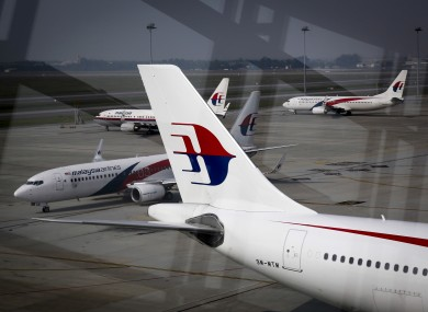 A fleet of Malaysian Airlines planes