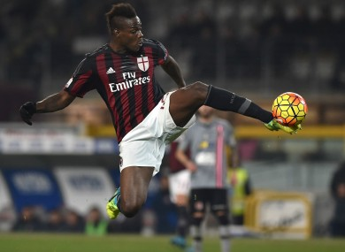 Mario Balotelli scored the only goal of the game for AC Milan tonight.