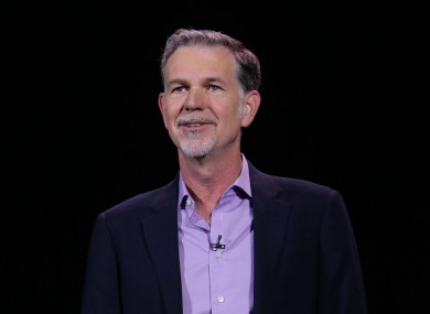 Netflix CEO Reed Hastings announcing the service's expansion to another 130 countries at CES.