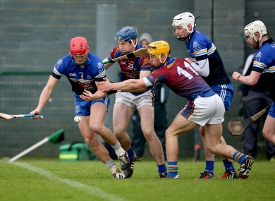 UL's Tom Morrissey and Dublin IT's Lee Chin battle for possession.