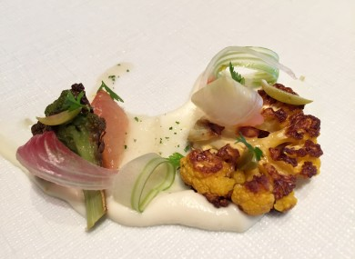 A baked cauliflower dish served at the restaurant Per Se.