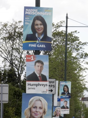 File photo of local election posters.