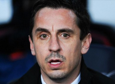 Gary Neville has come under pressure at Valencia of late.