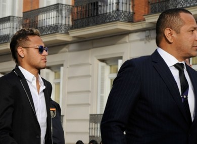 Neymar pictured with his father.
