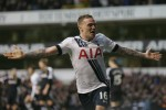 Trippier's first top-flight goal sends Spurs into second