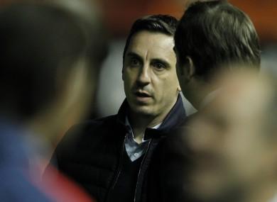 Under pressure: Valencia coach Gary Neville.