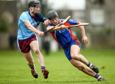 GMIT's John Finnerty (left) and Sean Linnane of Mary Immaculate.