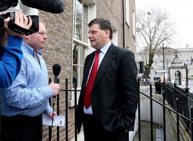 Former Mayo, Galway and Leitrim senior football boss John O'Mahony being interviewed outside the Dáil.