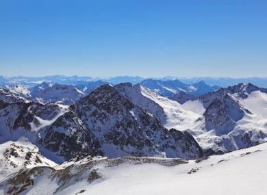 The Alps near Innsbruck.