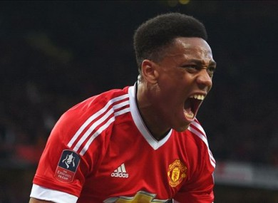 Anthony Martial has scored 12 goals in all competitions for Man United this season.