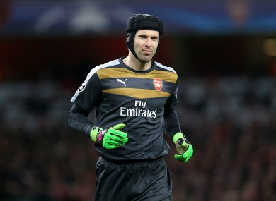 Petr Cech will miss this weekend's game against Spurs.