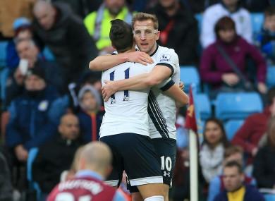 Kane celebrates the game's opening goal.