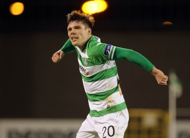 Shamrock Rovers' Brandon Miele was on target tonight (file pic).