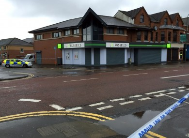 Police seal off a large area after a device exploded under a car in east Belfast.
