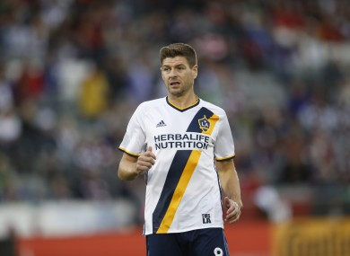 Gerrard in action for LA Galaxy last weekend.