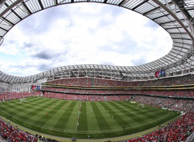 A full house watched a friendly between Celtic and Liverpool in 2013.