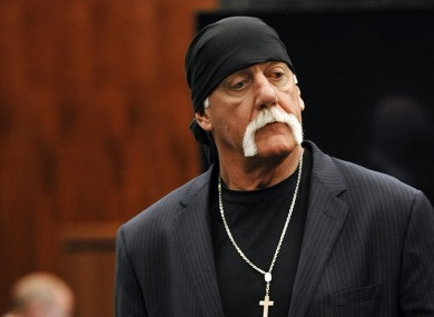 Hulk Hogan leaves the courtroom during a break.