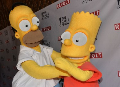 Homer and Bart Simpson -- Michail Antonio is a fan, apparently.