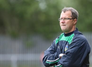 Limerick manager John Brudair.