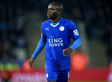 Leicester City's N'golo Kante has become a key player for the team.