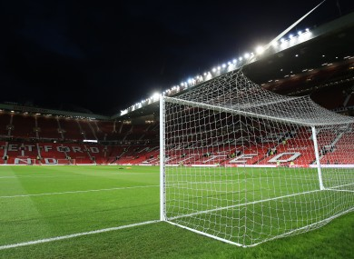 Old Trafford is the venue for the second-leg.