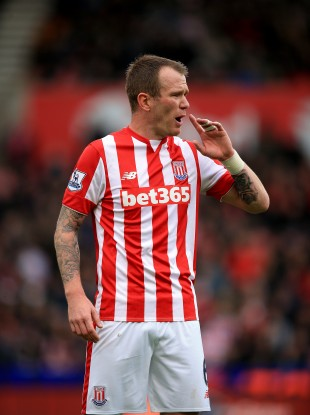 Glenn Whelan was making his 300th appearance for Stoke.