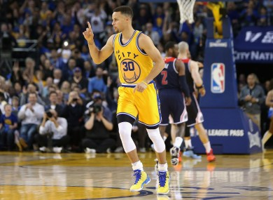 Golden State Warriors star Steph Curry had a relatively quiet night by his standards.
