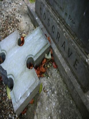 File photo of previous vandalism