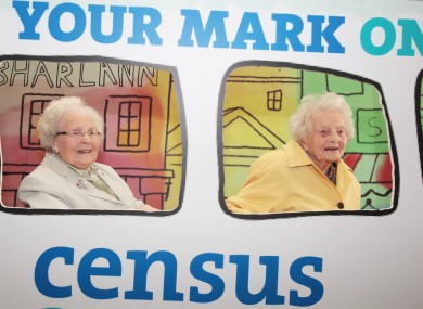 Teresa Moran 100 and Dorothea Findlater 106 launching Census 2016 las month.