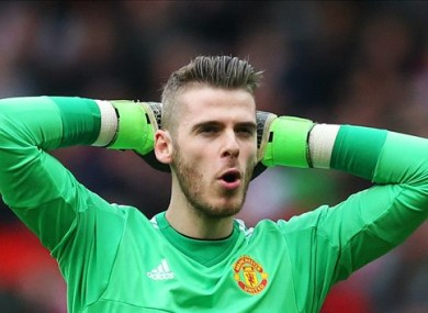 De Gea has been Man United's standout performer this season.