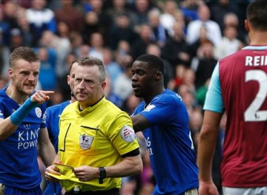 Vardy received a second booking after