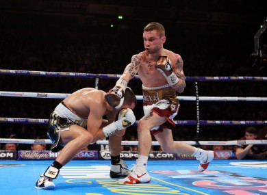 Frampton beat Quigg to win the WBA title in February.