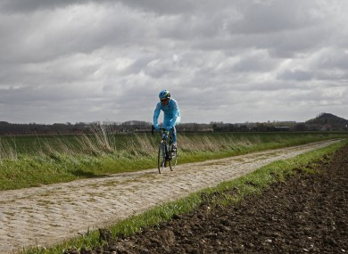 The Paris-Roubaix cycling classic is a 257.5 kilometer (160 mile) one day cycle race, with about 20% of the distance run on cobblestones.