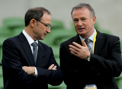 Martin O'Neill and his namesake Michael.