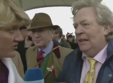Morris and presenter Clare Balding.