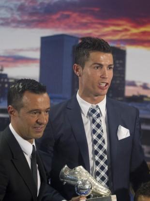 Mendes with Cristiano Ronaldo.