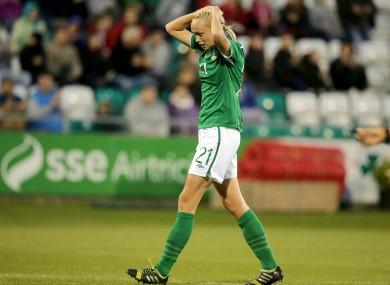 Stephanie Roche featured as Ireland were beaten 3-0 by Spain (file photo).