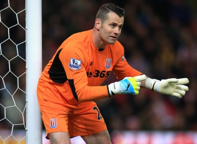 Shay Given made his Premier League debut for Stoke on Monday night.