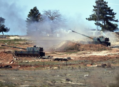 File photo of Turkish artillery fire in Kilis.