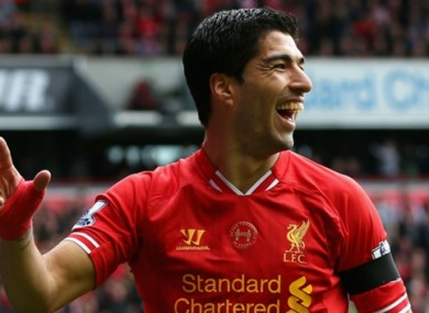 Luis Suarez during his time with Liverpool.