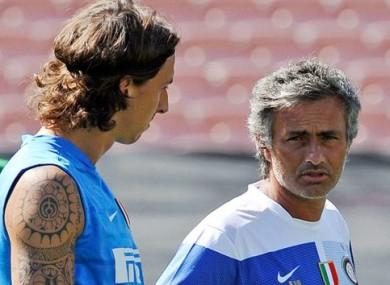 Zlatan Ibrahimovic and Jose Mourinho.