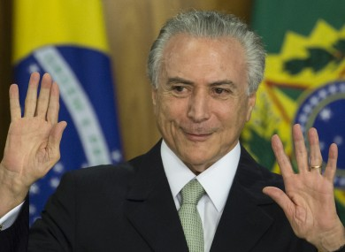 Brazil's acting President Michel Temer is facing opposition already.