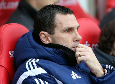 Gus Poyet during his time in charge of Sunderland.