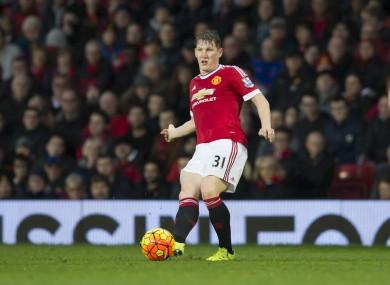 Manchester United midfielder Bastian Schweinsteiger.