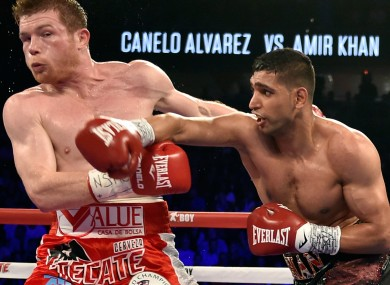 Saul Alvarez and Amir Khan