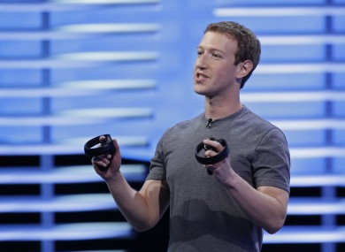 Mark Zuckerberg speaking at the F8 conference back in April.