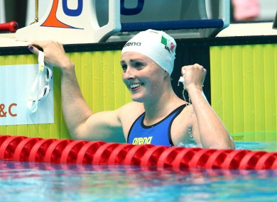 Fiona Doyle after medalling at the World University Games in 2015.