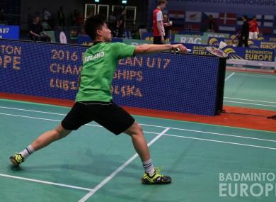 Nhat Nguyen on his way to winning European gold for Ireland.