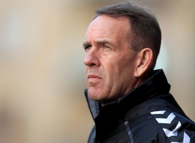 Derry manager Kenny Shiels claims he was subjected to sectarian abuse.